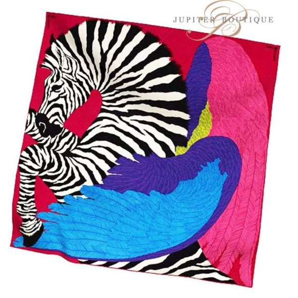 Hermes Accessories   Zebra Pegasus Cashmere And Silk Shawl   Poshmark e386c8c1985